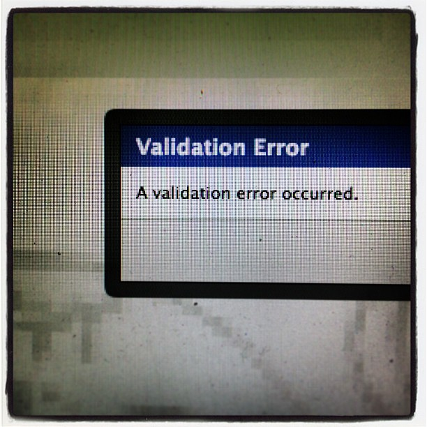 Validation Error - insta