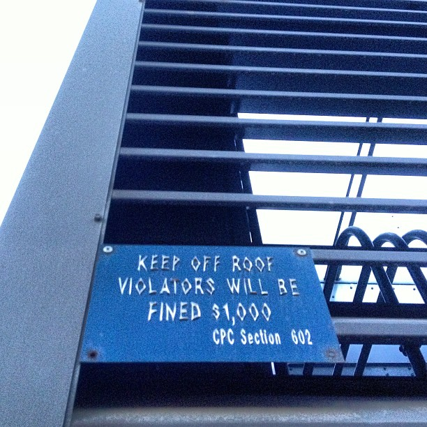 Keep off roof