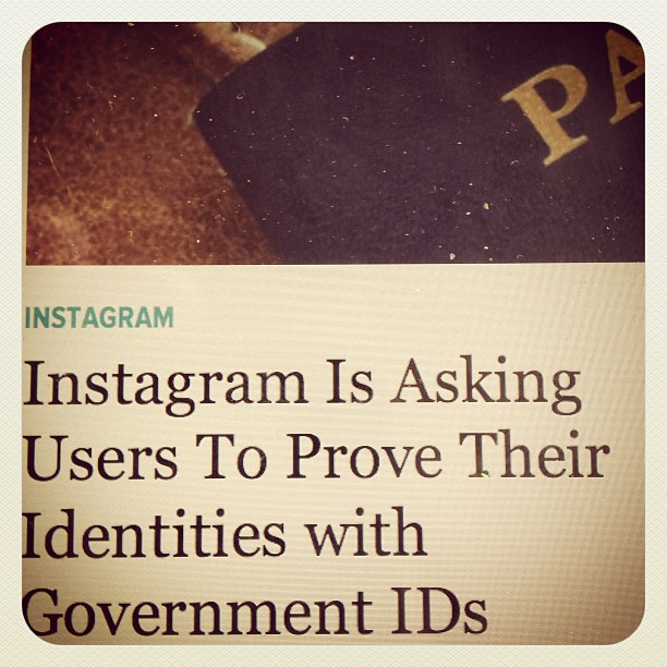 Review our ID policy - insta