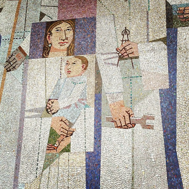ing - Federal Building mosaic - baby and compass