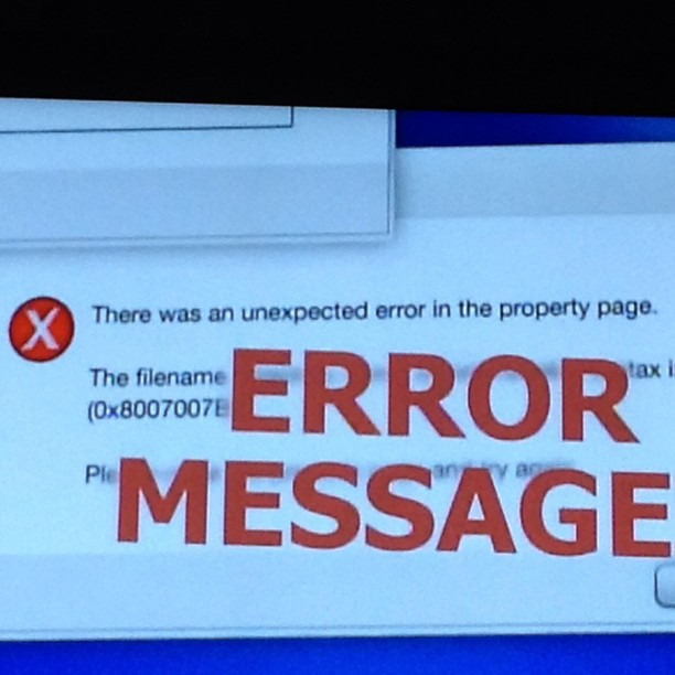 ing - ERROR MESSAGE
