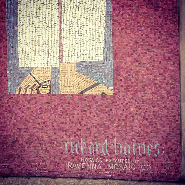 ing - Artist: Richard Hanes. Executed by Ravenna mosaic company